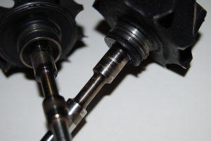 Uszkodzenie wirnika poprzez brak smarowania. brak oleju.