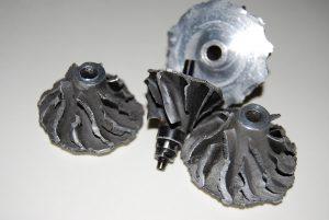 Koło kompresji uszkodzone poprzez tuning turbosprężarki