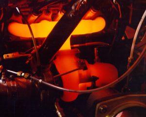 Turbosprężarka rozgrzana do czerwoności