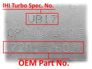 Numer turbo IHI