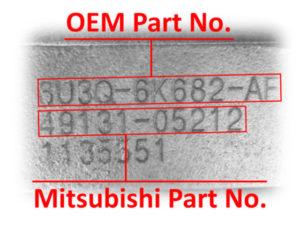 Numer turbo Mitsubishi